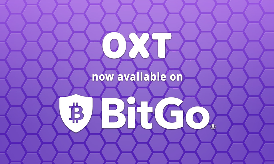 Peace of Mind for Institutional Supporters: OXT Available on BitGo